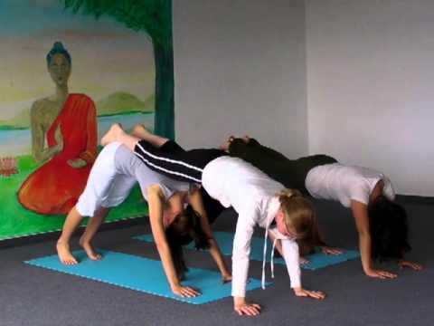 Jugendlichen-Yoga: Hund als Partner-Übung