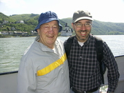 Hal and Brian on the Rhine ferry
