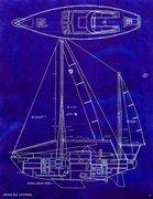 45 Columbia Sloop Shoal Draft Line Dwg Profile