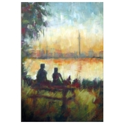 Toronto's Centre Island: Modern Impressionist semi-abstraction painting