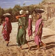 Donne nella cava 70x70