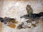 Collage-Cat and snake