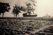 TD du Sgt. Mouisset touché par un 88 à Lorrach le 24.04.1945