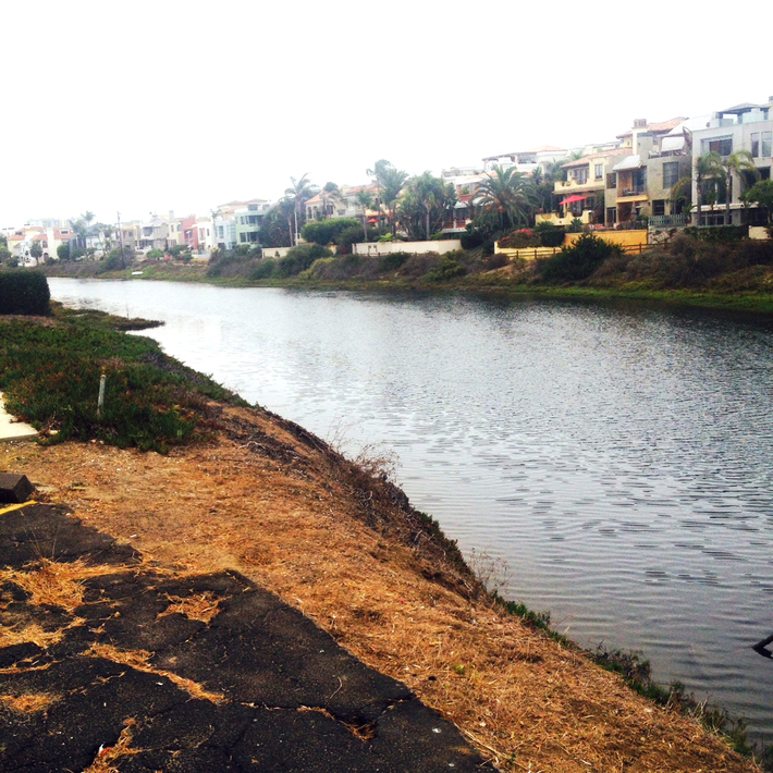 Marina del Rey Canal off Beach front