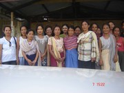 Rituu With the women group at molvom
