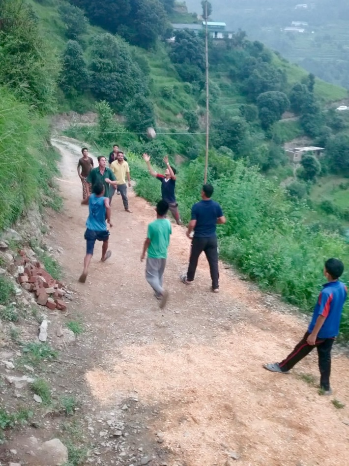 School children begin to engage in physical activities and games
