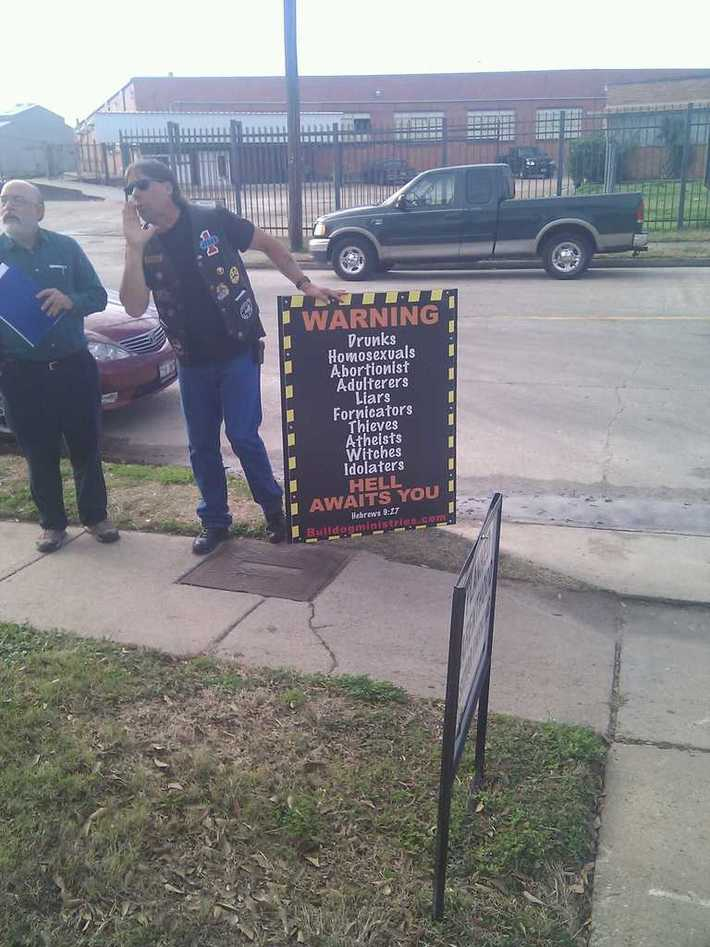 Regular protesters at Planned Parenthood
