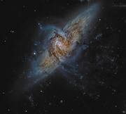NGC 3314 When Galaxies Overlap