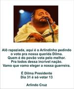 Arlindo Cruz com Dilma