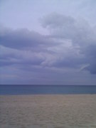 Threat of  t-storms & tornado warnings  Buddy & I were 'At The Beach' in Delray.