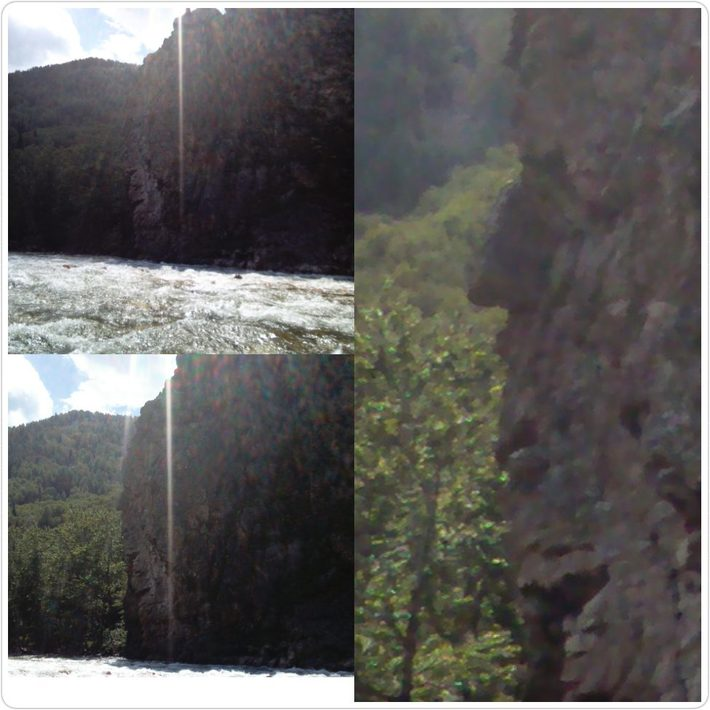 На скале профиль видно