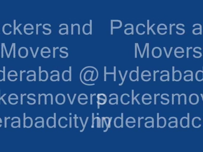 Packers And Movers Hyderabad | 100% Affordable And Reliable