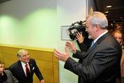 Mr. Van Peel greets Ambassador Fox