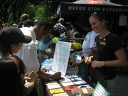 The Leave No Trace booth at the Outdoor Nation Youth Summit in Central Park, New York City