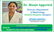 Chronic Kidney Disease Treatment by Dr. Manju Aggarwal Leading Kidney Care Specialist in Gurgaon