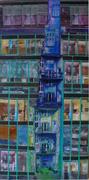 plane Fläche....2, Acryl Collage auf Leinwand, 50 x 110cm, 2016, Christoph Klein