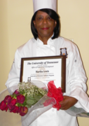 CHEF MARTHA WITH CULINARY CERTIFICATE