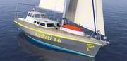 Kiribati 36 MK2 aluminum swing keel yacht