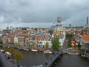 Arial View of Leiden from LaPlace eating cafe on the top of the VD Department Store.