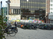 bicycle parking near Leiden central station
