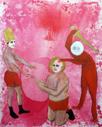 The Martyrdom of Steven Matthew 5ftx4ft Oil on Canvas .jpg