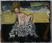 Figure Masturbating on an Island of Skulls