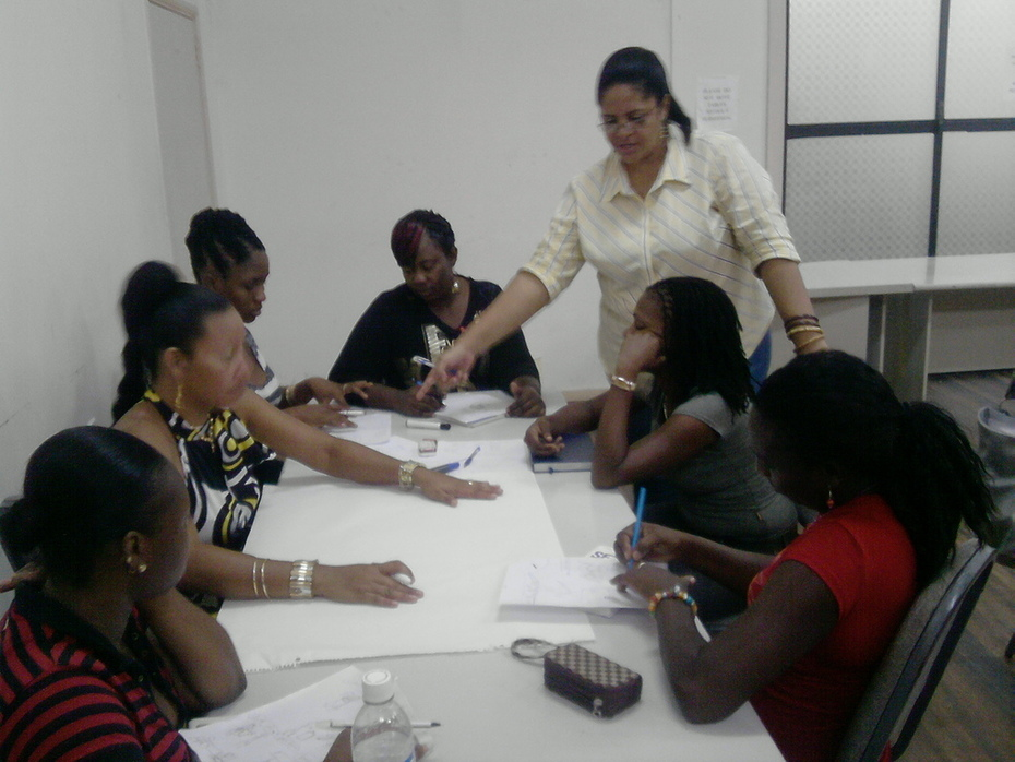 ACP in Linden, Guyana with Cosmetologists