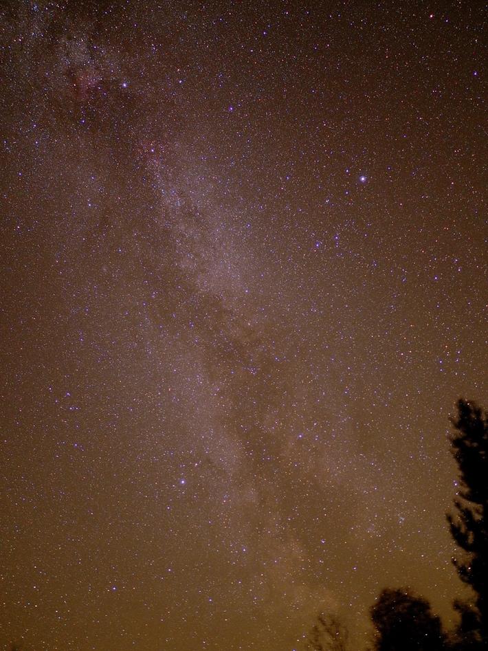 Vintergatan över obsplatsen