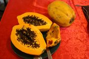 Papaya in Peru! So sweet, and no bad smell.