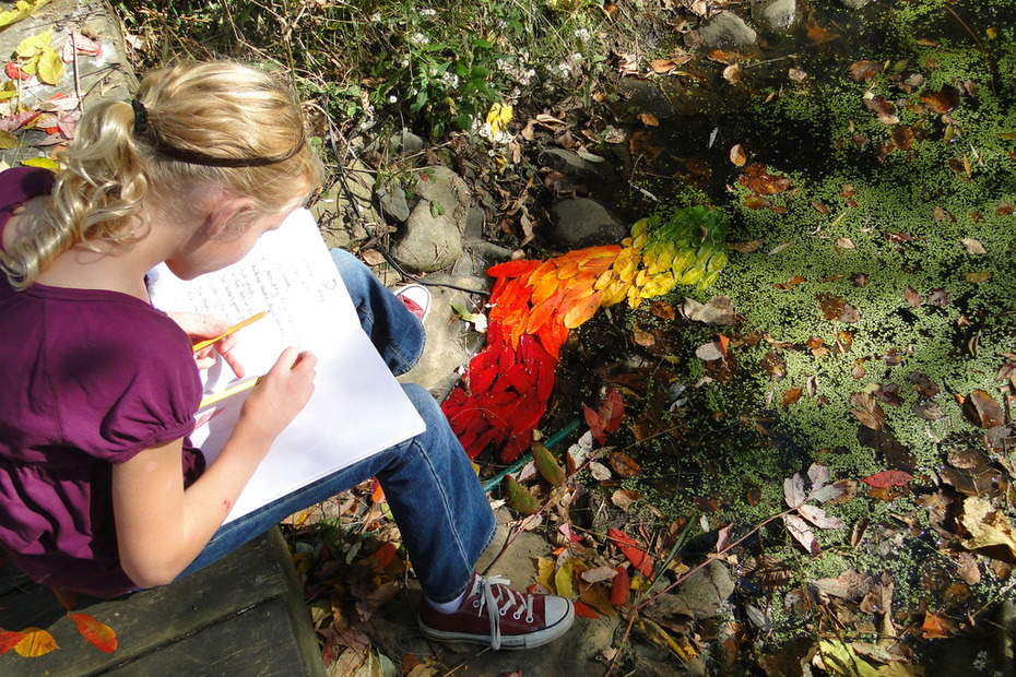 class projects, inspired by Andrew Goldsworthy