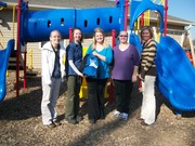 Daycare Receives Project GO Backpack