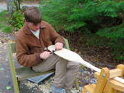 Learning to make wooden canoe paddles