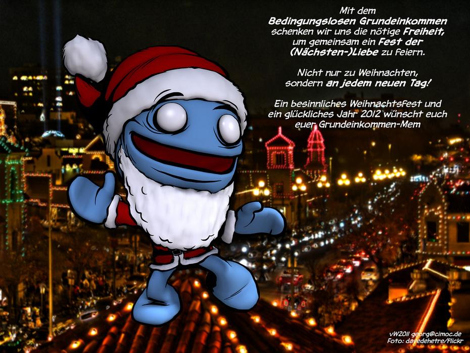 Das Grundeinkommen-Mem wünscht frohe Weihnachten …!