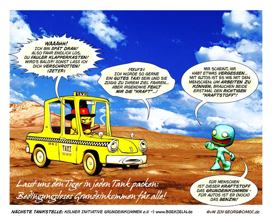 Treibstoff Grundeinkommen