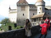 Nancy Madera en Castillo de Chillon en Suiza