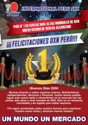 FELICIDADES DXN-PERU//////// NUMERO UNO EN VENTAS A NIVEL MUNDIAL