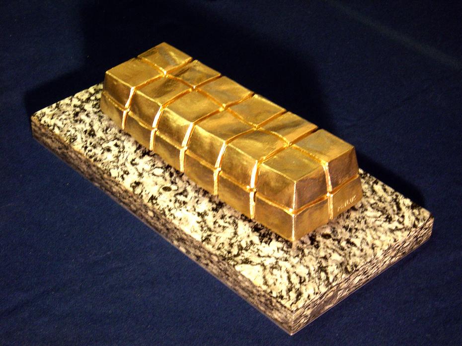 """""""Mein Gold""""- 40x20x10 cm.-bronz"""