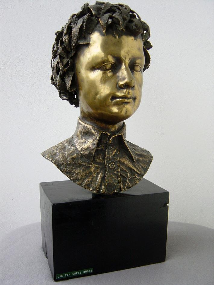 """"""" Rongyos portré - A fiam""""-1981-Bronz"""