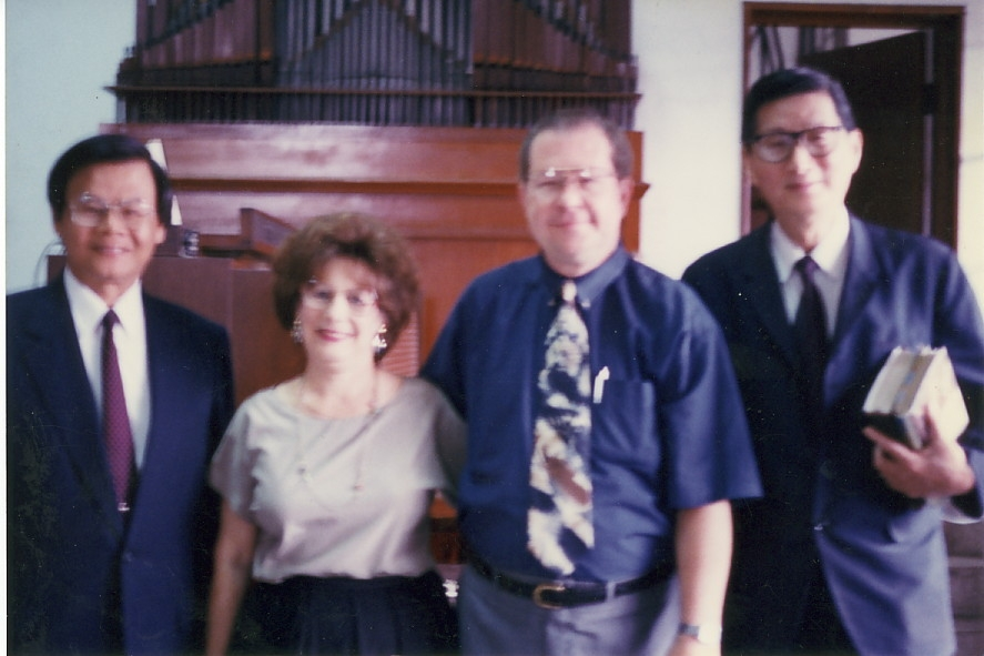 Dr. Dan after speaking on prayer in Chapel at Taiwan Baptist Seminary