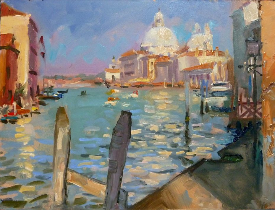 Grand Canal from under Accademia Bridge