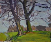 Two Trees And Deer, Phoenix Park (2)