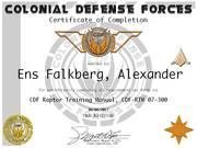 Ens Alexander Falkberg RTM  Cert