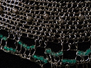 wire needle lace necklace detail