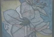 Blue Flower Stippled