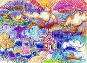 crayon landscape006