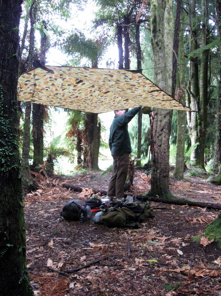 Tarp shelter for a hammock