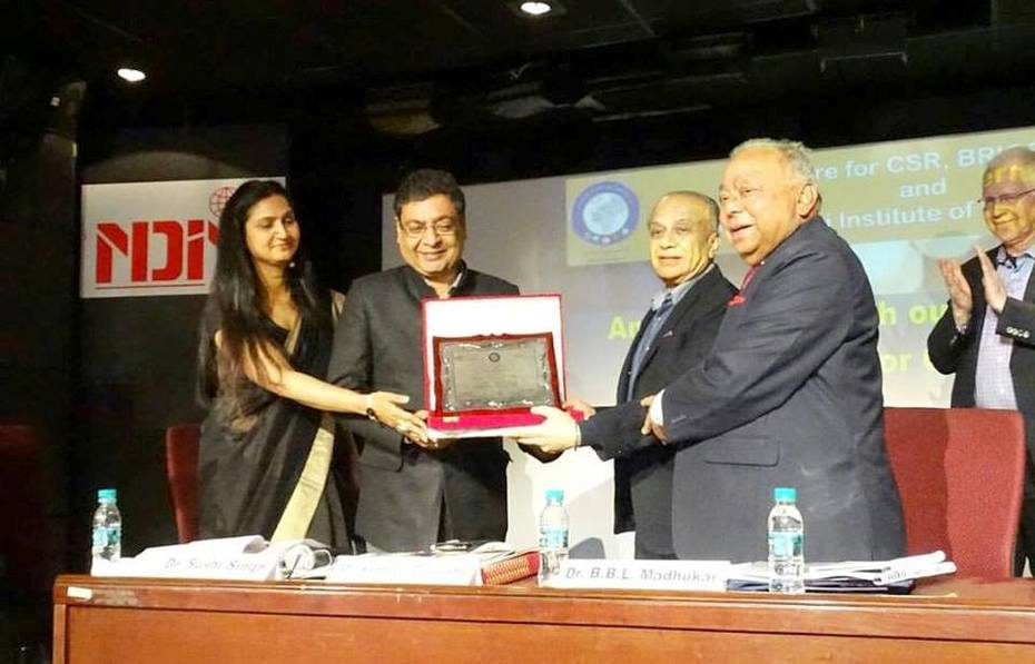 Being Felicitated By BRICS Chamber Of Commerce & Industry