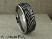 American Flag Titanium Wedding Ring