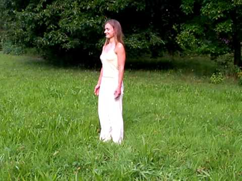 Relaxing Yoga Standing Position