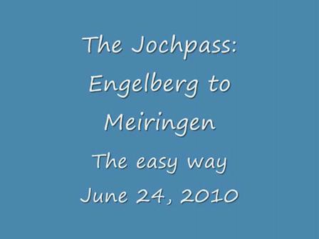 The Jochpass